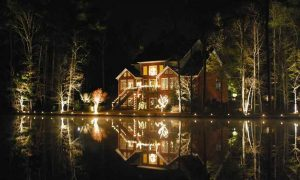 landscape lighting lake side