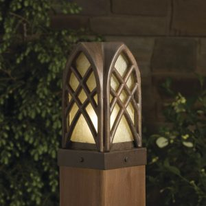 post cap landscape light fixture