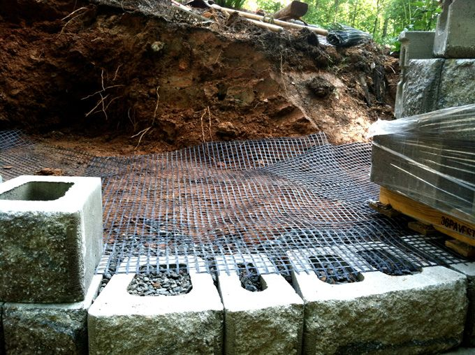 geo grid for retaining wall
