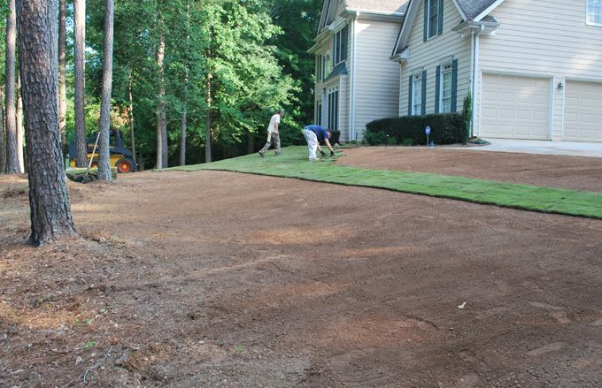 landscaping sodding lawn renovation