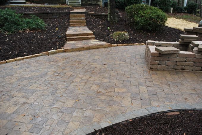 paver patio back yard retreat