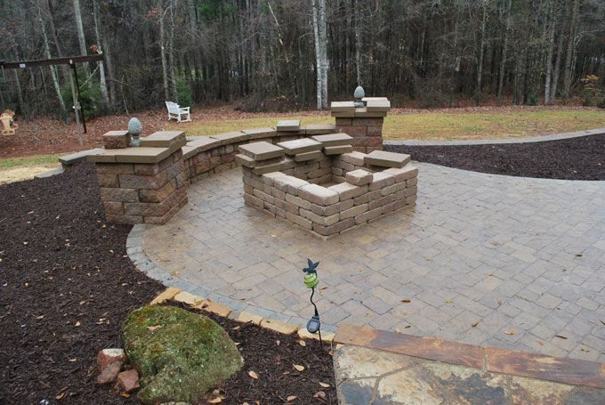 firepit & paver patio
