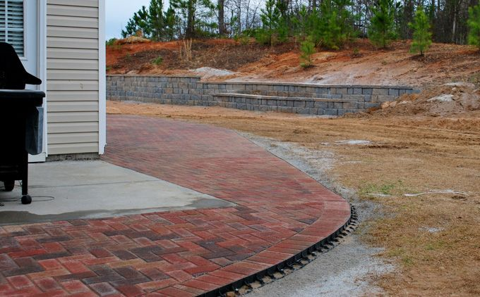 hardscape addition with patio pavers
