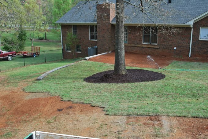 professional landscaping means proper soil preparation before sod is installed