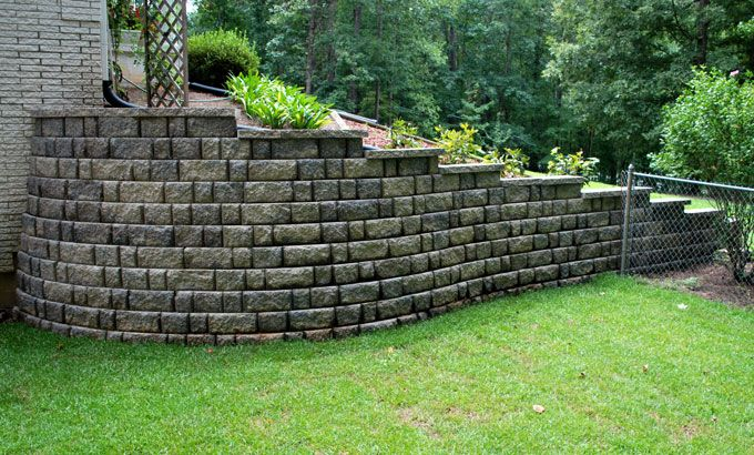 replaced retaining wall