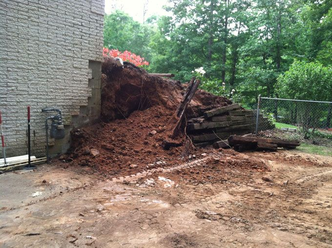 removing a wood retaining wall