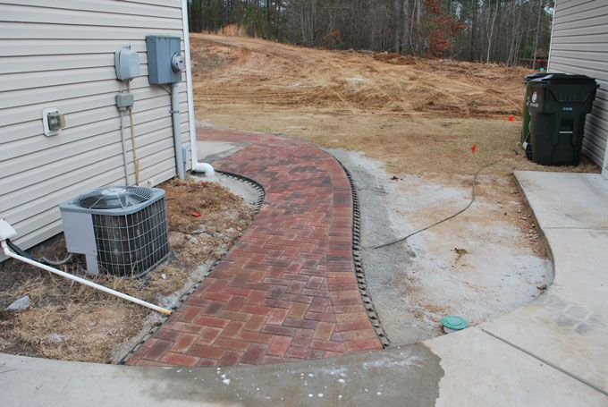 paver walkway with soldier course detail