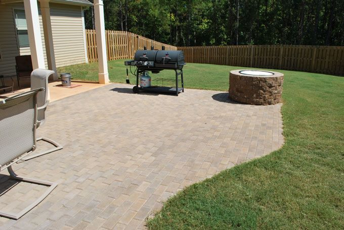 paver patio addition