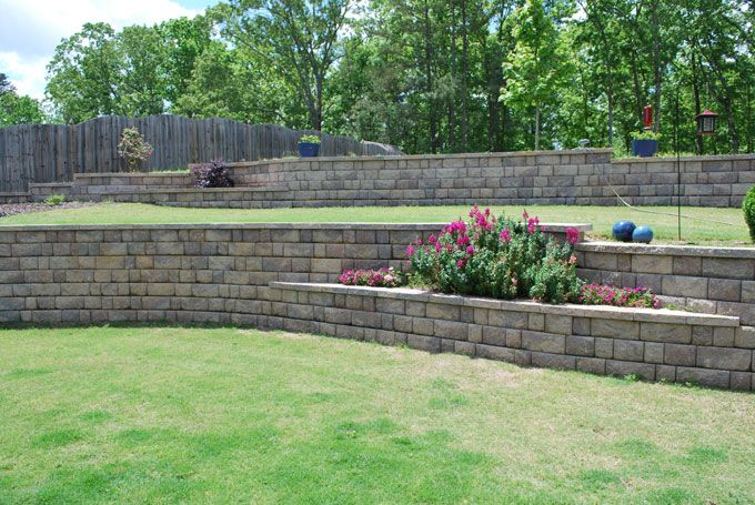 retaining wall with terrace