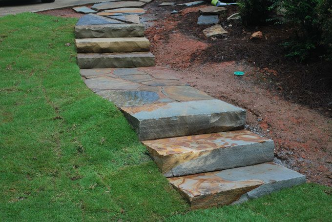 natural stone slab steps