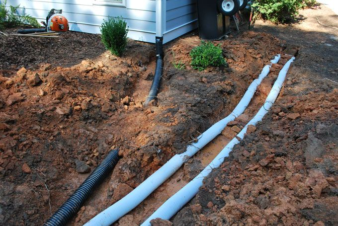peachtree city landscaper installed french drains