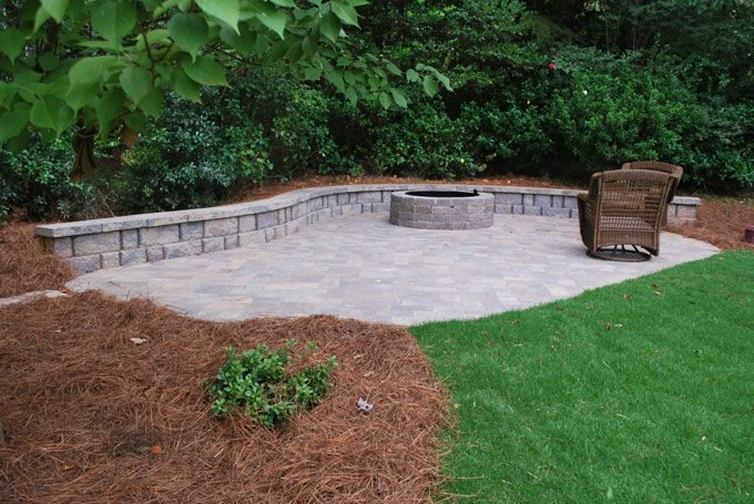 color matching hardscape components pavers and wall