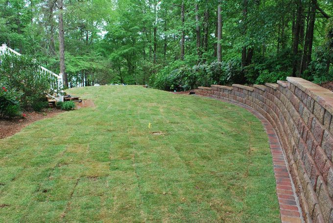 block wall with pavers edging