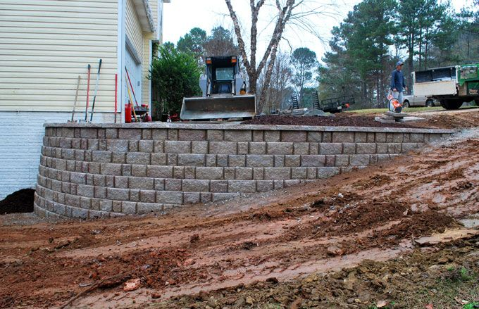 repalce a wood retaining wall