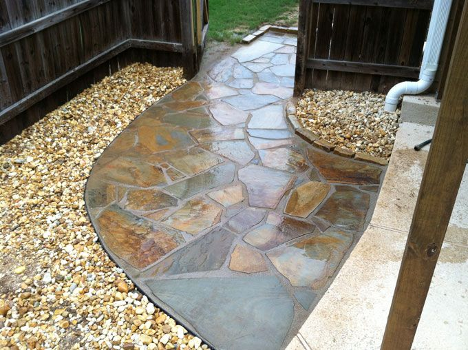 natural stone side walk