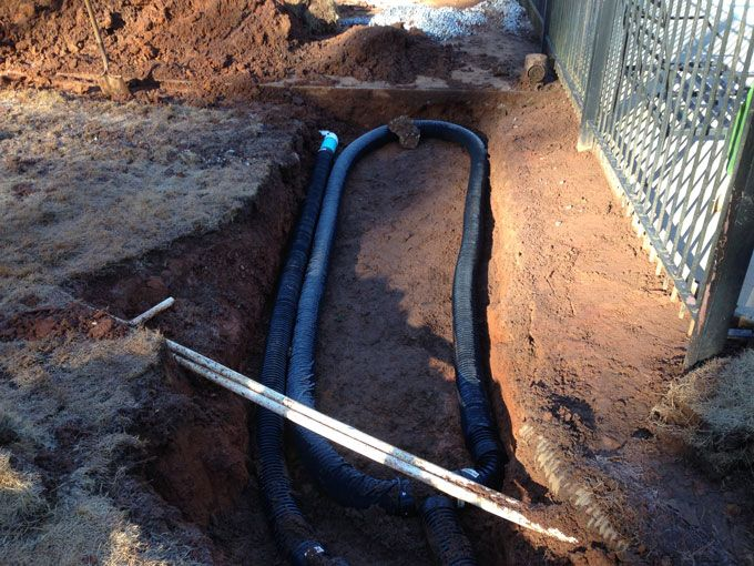 large drain basin for underground drain system