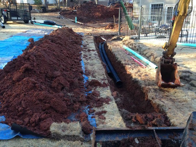 underground drainage systems installed by landscaper