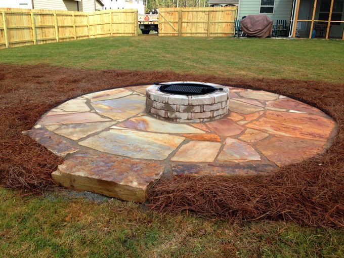tenessee flagstone patio and fire pit kit