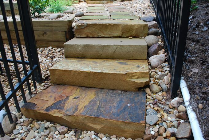 natural rock walkway & steps