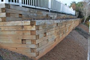 Wood Retaining Walls Peachtree City, Fayetteville, GA | Landscape