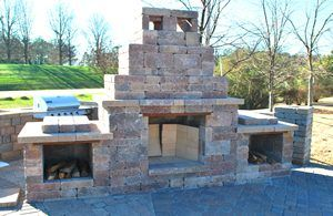 belgard block fireplace