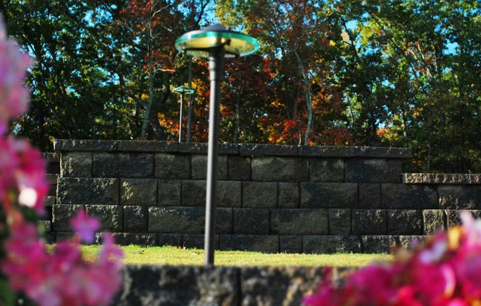 led path light installed by fayetteville landscaper