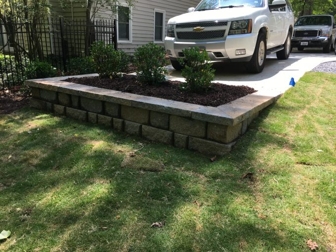 small raised bed retaining wall