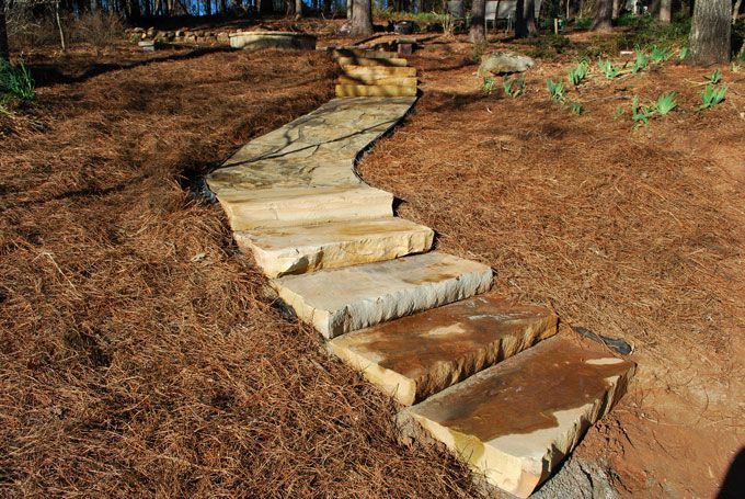 Flag Stone And Rock Slabs Used In Peachtree City Landscaping