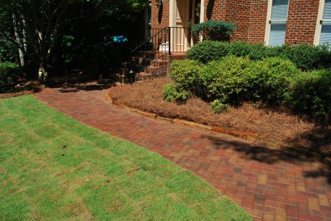 paver side walk