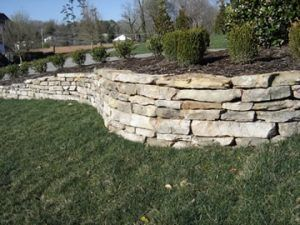 stack stone garden wall