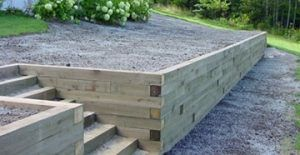 Wood Retaining Walls Peachtree City Fayetteville Ga Landscape