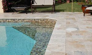 travertine pool suuround