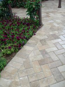 travertine walkway