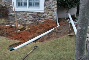 downspout to yard emitter