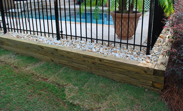 Preasure Treated Timber Retaining Wall